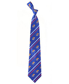 Eagles Wings Kansas Jayhawks Striped Silk Tie