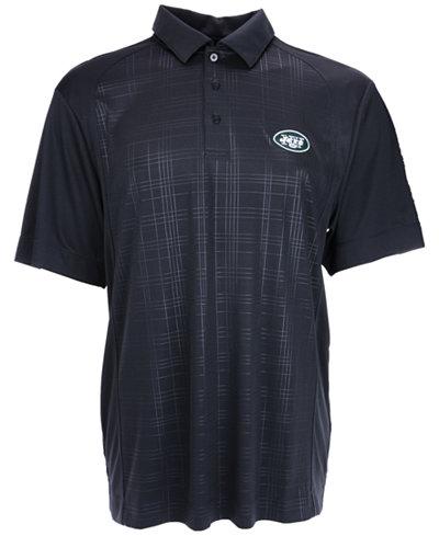 Cutter & Buck Men's New York Jets DryTec Sullivan Embossed Polo