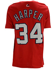 Majestic Kids' Bryce Harper Washington Nationals Player T-Shirt