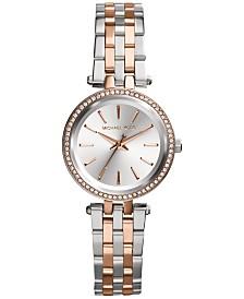 Michael Kors Women's Petite Darci Two-Tone Stainless Steel Bracelet Watch 26mm MK3298