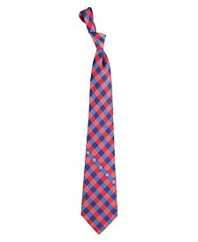 Eagles Wings Chicago Cubs Checked Tie