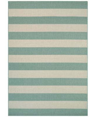 "Indoor/Outdoor Afuera Yacht Club 6'6"" x 9'6"" Area Rug"