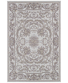 "Couristan Indoor/Outdoor Area Rug, Dolce 4079/7475 Messina Sky Blue/Grey 5'3"" x 7'6"""