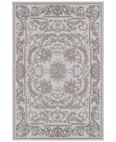 Couristan Indoor/Outdoor Runner Rug, Dolce 4079/7475 Messina Sky Blue/Grey 2'3