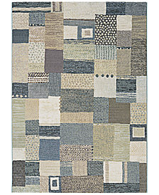 "Couristan Area Rug, Taylor Maribel Cream-Grey 3'11"" x 5'3"""