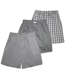 Men's Cotton Classics Woven Boxer 3-Pack U1732
