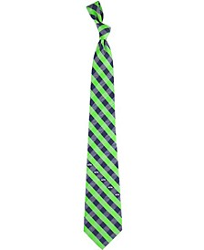 Seattle Seahawks Checked Tie
