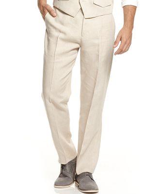 Tasso Elba Men's Linen Pants - Men - Macy's
