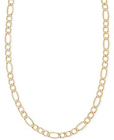 "22"" Figaro Chain Necklace (5-3/4mm) in 14k Gold"