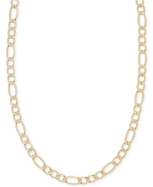Italian Gold Chain >> 22 Figaro Chain Necklace 5 3 4mm In 14k Gold