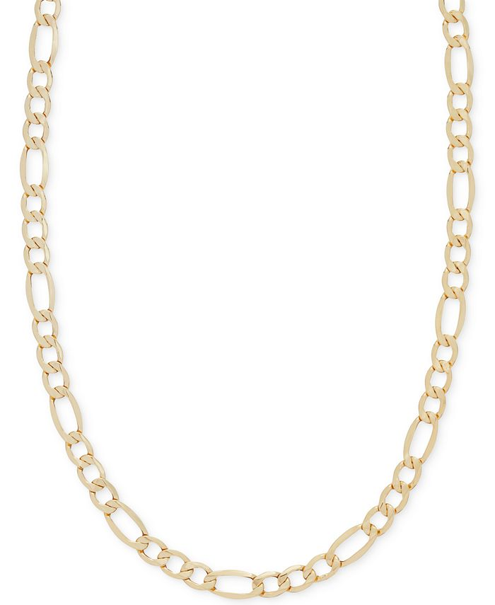 "Italian Gold - Figaro Chain 22"" Necklace in Italian 14k Gold"