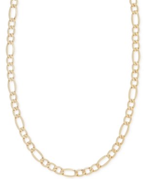 """22"""" Figaro Chain Necklace (5-3/4mm) in 14k Gold"""