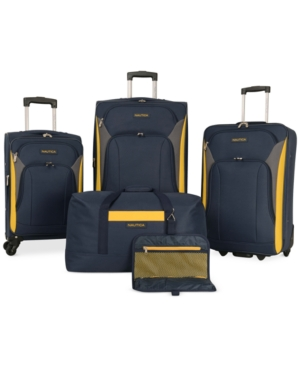 Nautica Open Seas 5 Piece Spinner Luggage Set