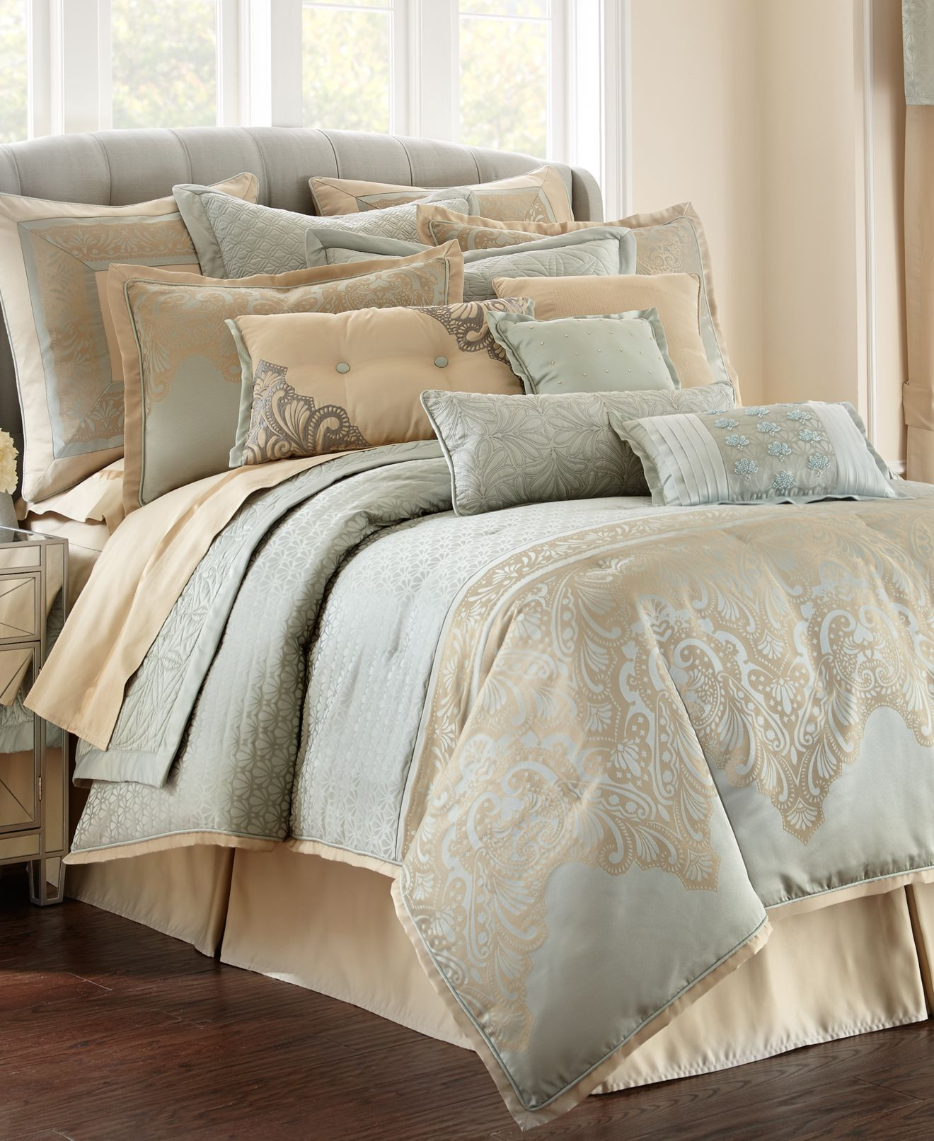 waterford aramis comforter sets - bedding collections - bed & bath
