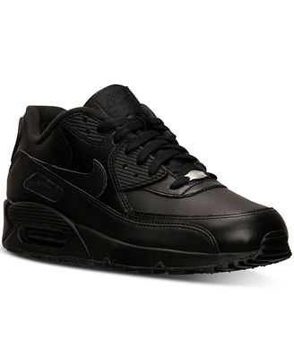 Nike Men's Air Max 90 Leather Running Sneakers from Finish Line