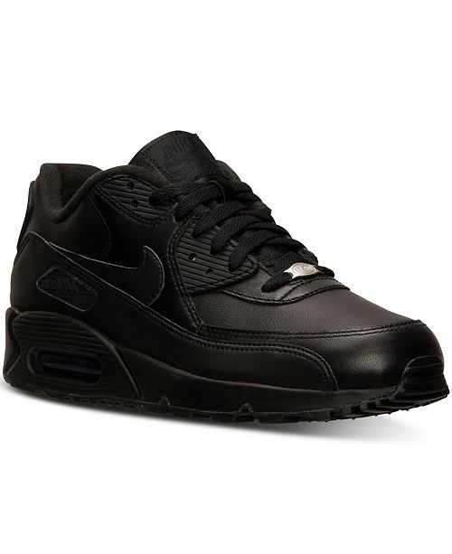 huge selection of f34d4 043d4 ... Nike Men s Air Max 90 Leather Running Sneakers from Finish ...