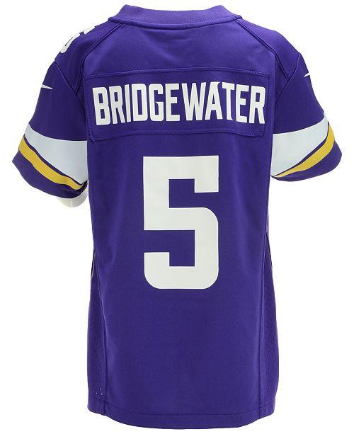 f46882728 Nike Kids  Teddy Bridgewater Minnesota Vikings Game Jersey