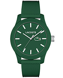 Lacoste Men's L.12.12 Green Silicone Strap Watch 43mm 2010763