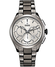 Rado Men's Swiss Automatic Chronograph HyperChrome Plasma High-Tech Ceramic Bracelet Watch 45mm R32276102