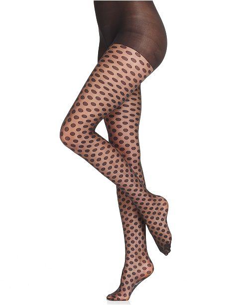 Hue Sheer Dot Control Top Pantyhose Sheers