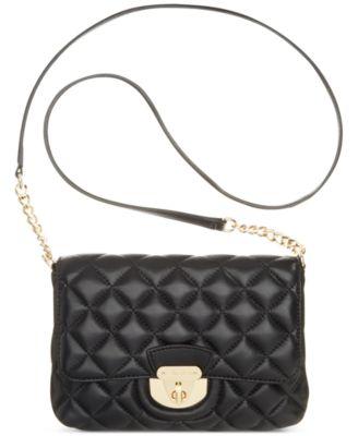 Calvin Klein Quilted Lamb Crossbody - Handbags & Accessories - Macy's : calvin klein quilted purse - Adamdwight.com