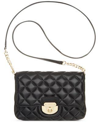 Calvin Klein Quilted Lamb Crossbody - Handbags & Accessories - Macy's : calvin klein quilted leather crossbody bag - Adamdwight.com