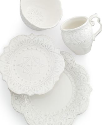 Blanc Amelie Scalloped 4-Piece Place Setting