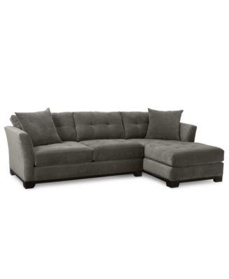 Merveilleux Furniture Elliot 2 Piece Fabric Microfiber Chaise Sectional Sofa   Custom  Colors, Created For Macyu0027s   Furniture   Macyu0027s
