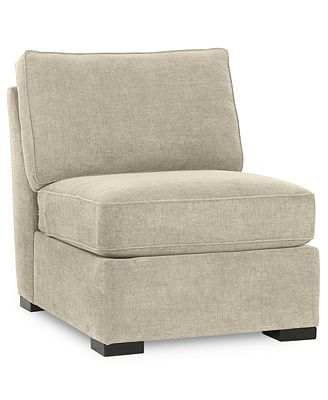 radley fabric armless living room chair - furniture - macy's