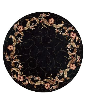 nourison round area rug, julian jl floral border black '  rugs, black round area rugs, black round rugs cheap, black white round area rugs