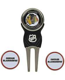 Chicago Blackhawks Divot Tool and Markers
