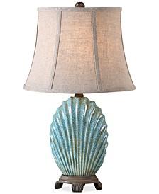 Seashell Blue Buffet Table Lamp
