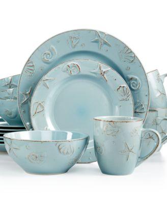 Thomson Pottery Cape Cod 16-Pc. Set Service for 4  sc 1 st  Macy\u0027s & Thomson Pottery Cape Cod 16-Pc. Set Service for 4 - Dinnerware ...