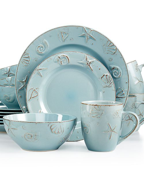 Thomson Pottery Cape Cod 16-Pc. Set, Service for 4 - Dinnerware ...
