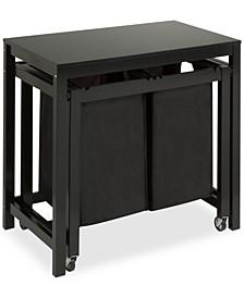 Double Laundry Sorter Folding Table