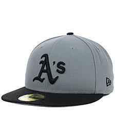 New Era Oakland Athletics FC Gray Black 59FIFTY Cap