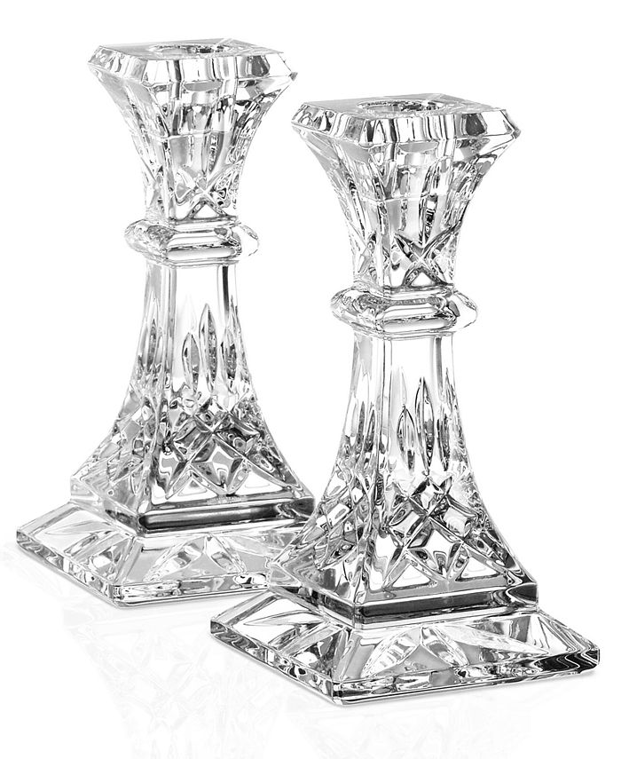 """Waterford - """"Lismore"""" Candlestick, 10"""" Pair"""