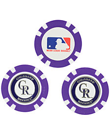 Team Golf Colorado Rockies 3-Pack Poker Chip Golf Markers