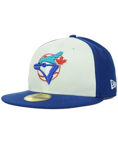 super popular 423a8 f0389 ... New Era Toronto Blue Jays MLB Cooperstown 59FIFTY Cap ...