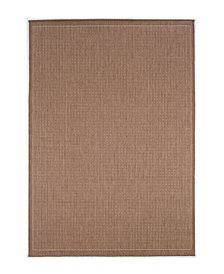 "CLOSEOUT! Couristan Area Rug, Recife Indoor/Outdoor Saddle Stitch/Cocoa-Natural 1001/1500 2'3"" x 7'10"" Runner"