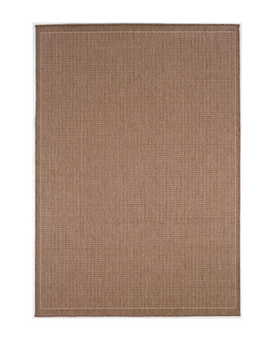 CLOSEOUT! Couristan Area Rug, Recife Indoor/Outdoor Saddle Stitch/Cocoa-Natural 1001/1500 2'3
