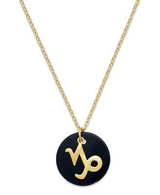 Giani bernini capricorn pendant necklace in 18k gold over sterling giani bernini capricorn pendant necklace in 18k gold over sterling silver aloadofball Choice Image