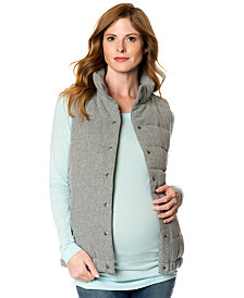 A Pea In The Pod Maternity Snap-Front Quilted Puffer Vest