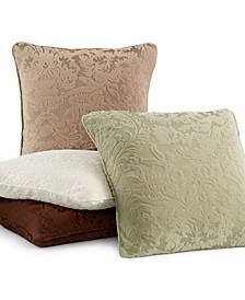 "Stretch Jacquard Damask 18"" Decorative Pillow"