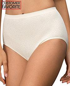 Bali Comfort Revolution Microfiber Damask Brief Underwear 803J