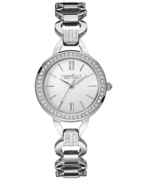 Caravelle New York by Bulova Women's Crystal Accent Stainless Steel Bracelet Watch 28mm 43L180