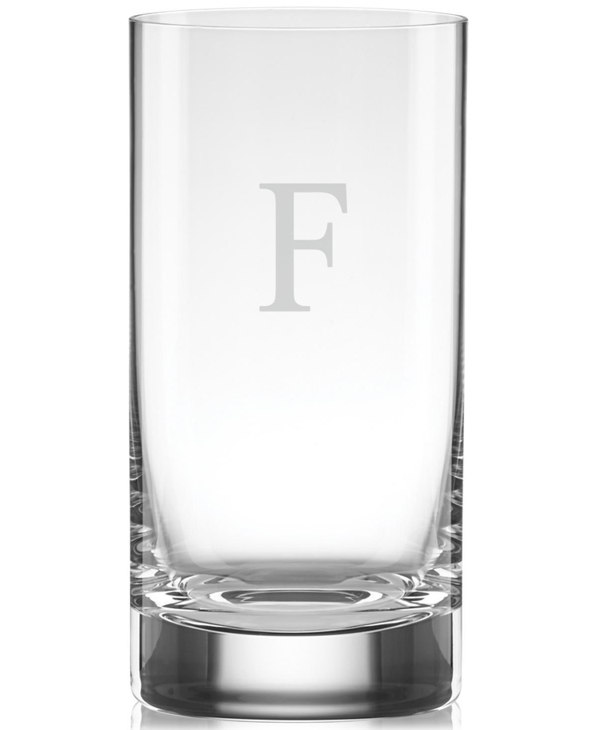 Lenox Tuscany Monogram Barware Block Letter Highball Glasses, Set Of 4