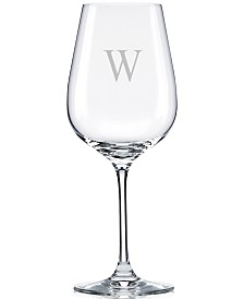 Lenox Tuscany Monogram Stemware, Set of 4 Block Letter Pinot Grigio Wine Glasses