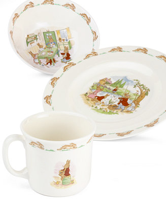 Royal Doulton Quot Bunnykins Quot 3 Piece Children S Dinnerware
