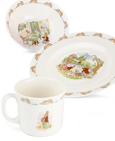 Royal Doulton Quot Bunnykins Quot 3 Piece Children S Dinnerware